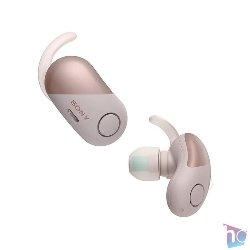 Sony WF-SP700N True Wireless Bluetooth zajszűrős lila sport fülhallgató