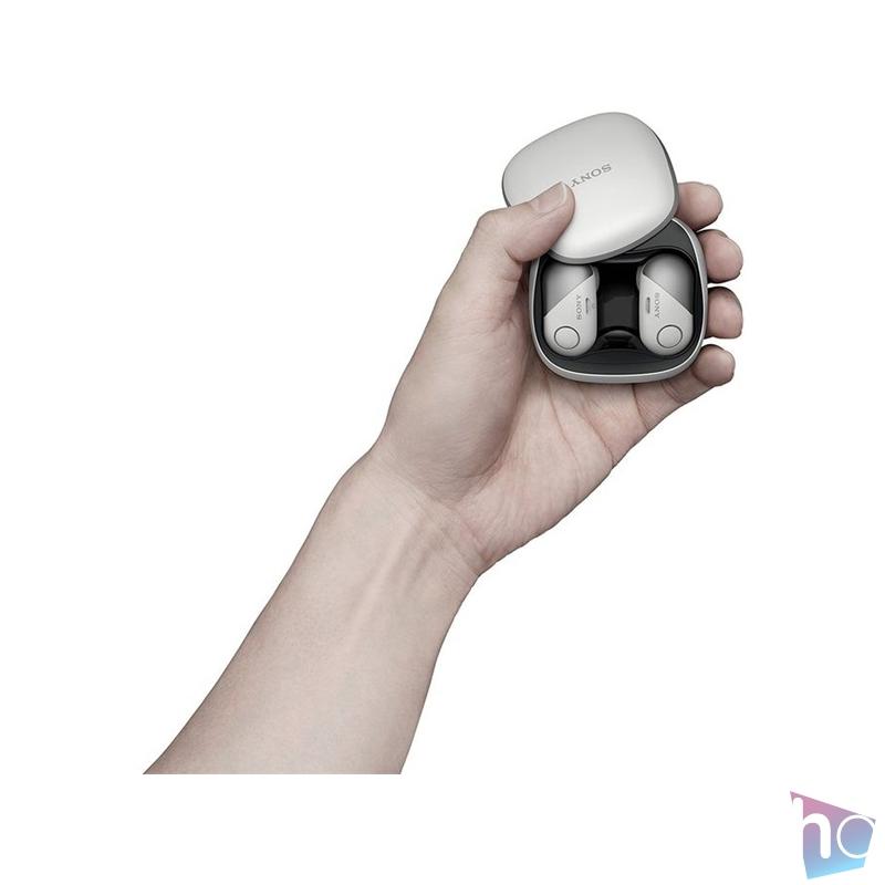 Sony WF-SP700N True Wireless Bluetooth zajszűrős fehér sport fülhallgató