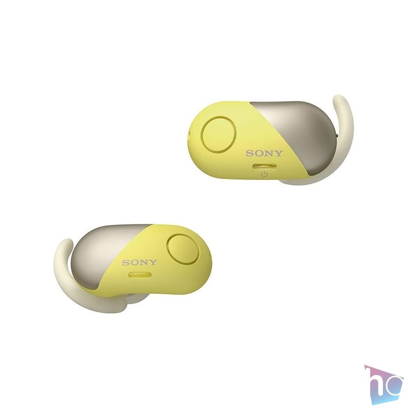Sony WF-SP700N True Wireless Bluetooth zajszűrős sárga sport fülhallgató