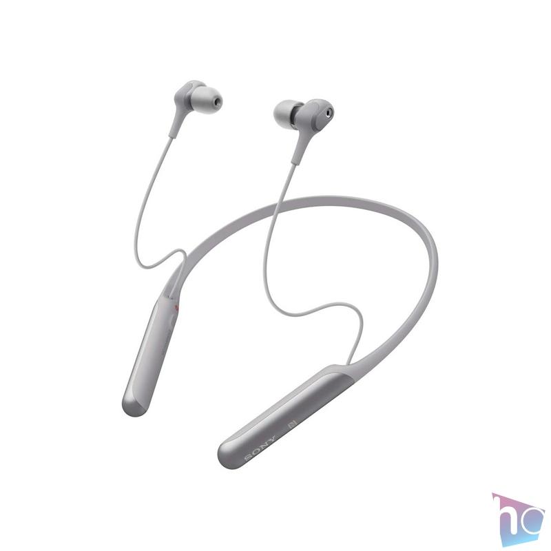 Sony WIC600NH Bluetooth zajszűrős szürke nyakpántos fülhallgató