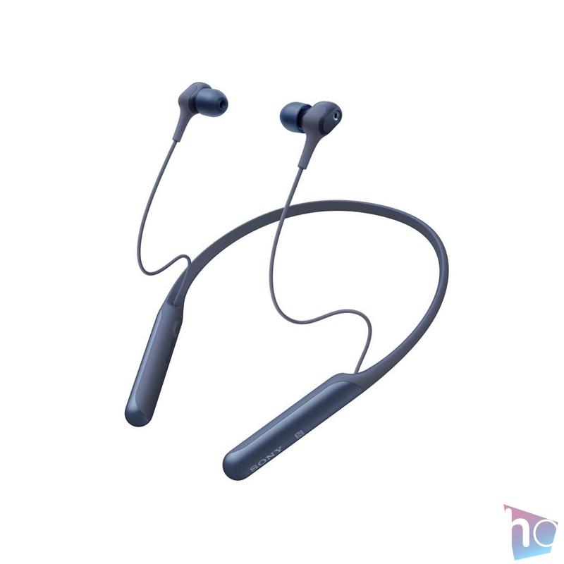 Sony WIC600NL Bluetooth zajszűrős kék nyakpántos fülhallgató