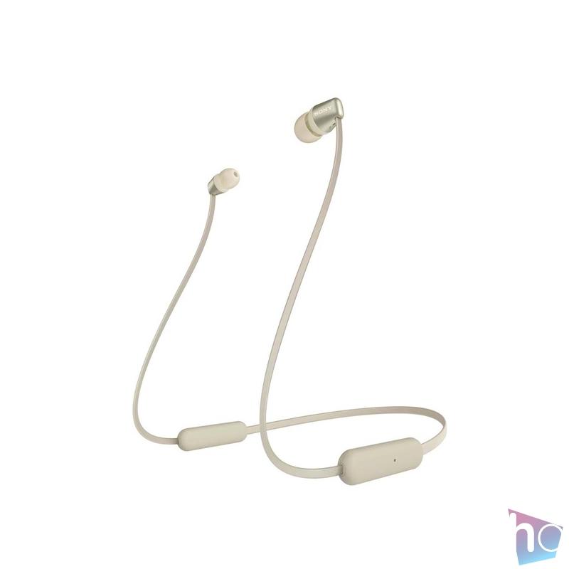 Sony WIC310N Bluetooth arany fülhallgató headset