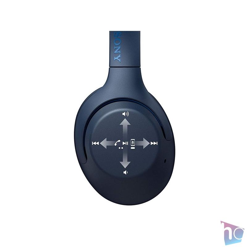 Sony WHXB900NL Bluetooth zajcsökkentős kék mikrofonos fejhallgató