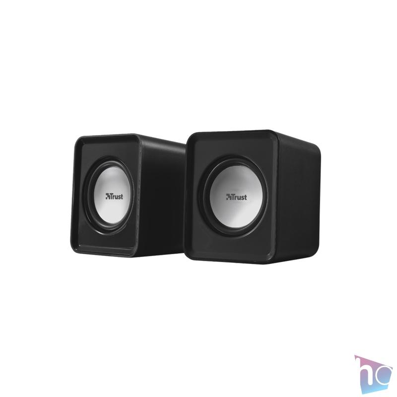 Trust Leto 2.0 jack 6W USB tápellátású fekete-ezüst hangszóró
