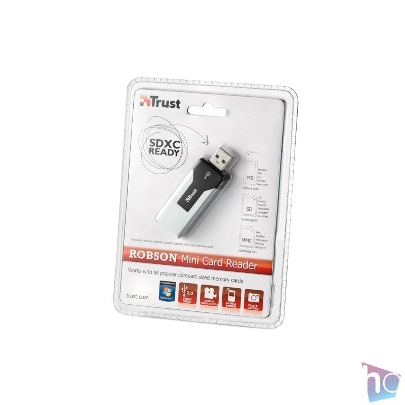 Trust Robson Mini Card Reader USB 2.0 kártyaolvasó