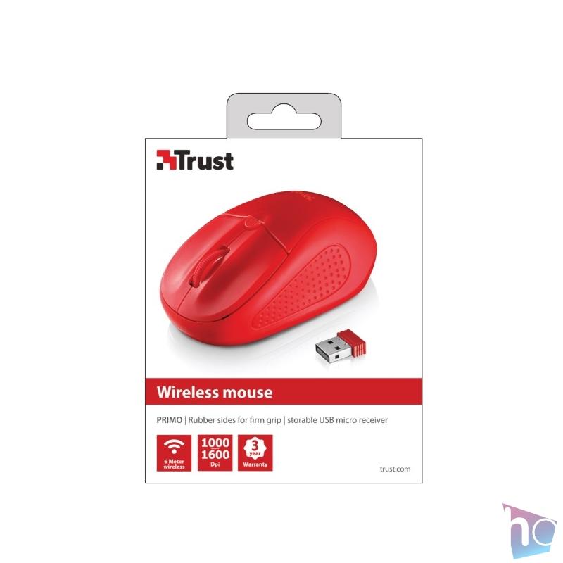 Trust Primo vezeték nélküli piros egér