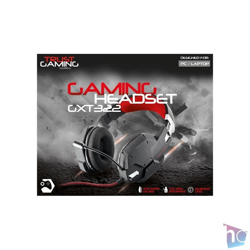 Trust GXT 322 Carus gamer fejhallgató headset