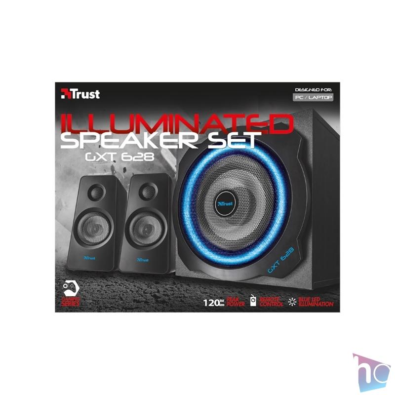 Trust GXT 628 Tytan 2.1 Illuminated Speaker Set Limited Edition jack 60W fa gamer hangszóró