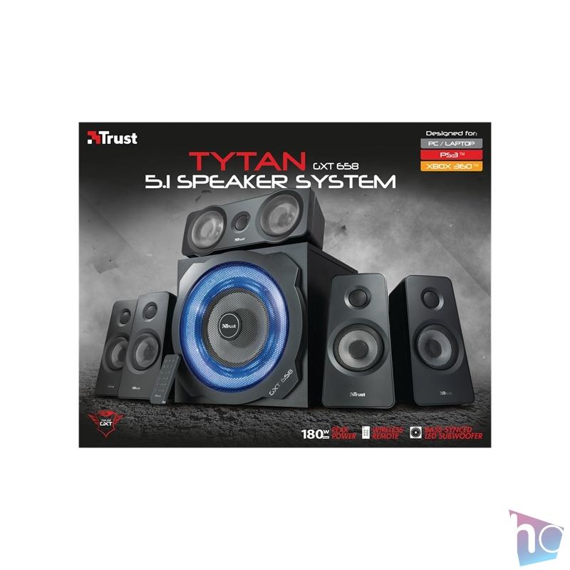 Trust GXT 658 Tytan 5.1 Surround gaming jack 180W fa gamer hangszóró