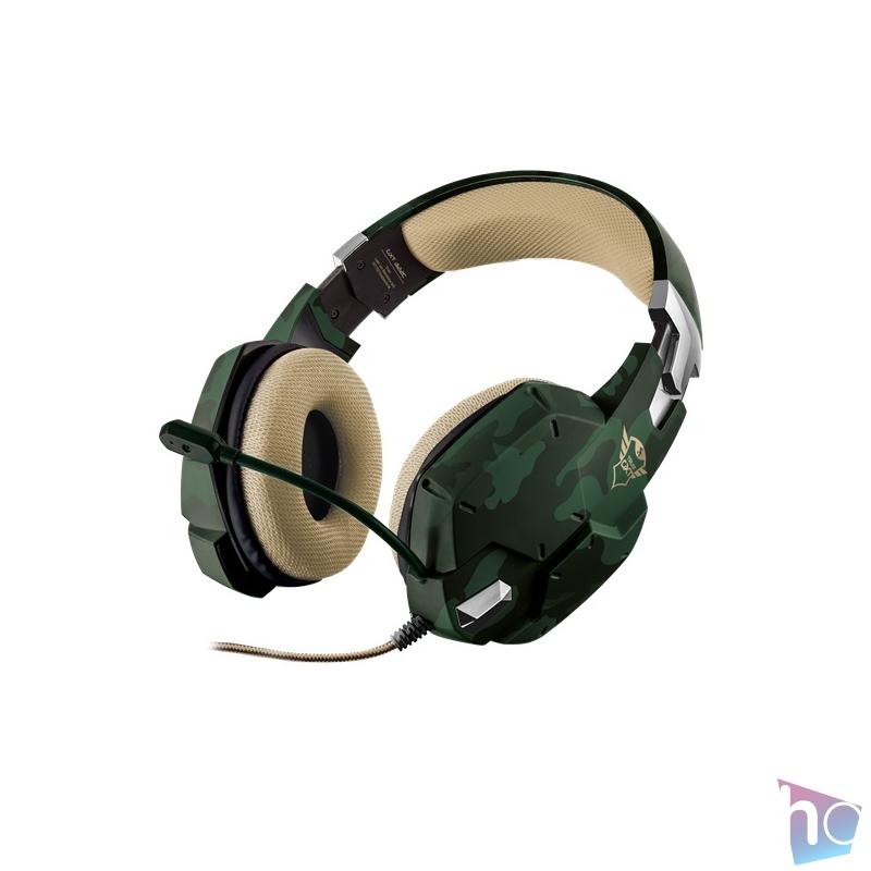 Trust GXT 322C Carus dzsungel álcafestéses gamer fejhallgató headset