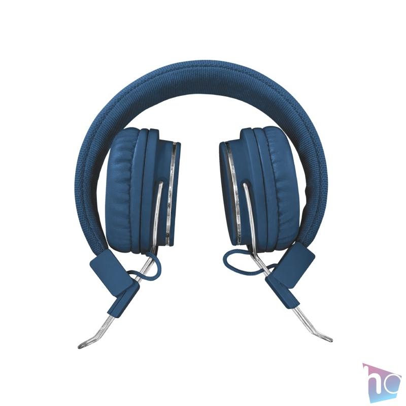 Trust Ziva összehajtható kék fejhallgató headset
