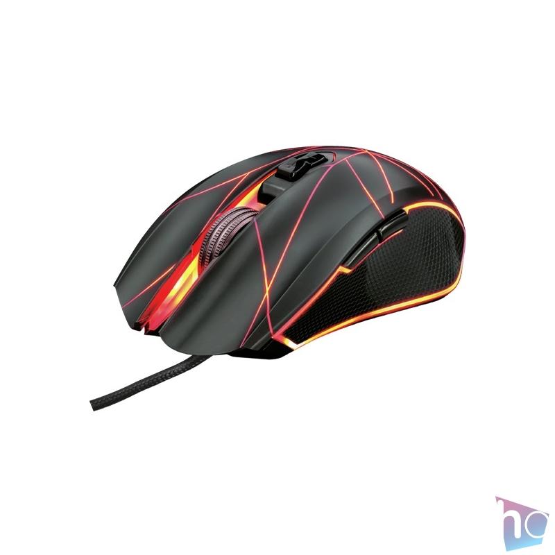 Trust GXT 160 Ture Illuminated fekete gamer egér