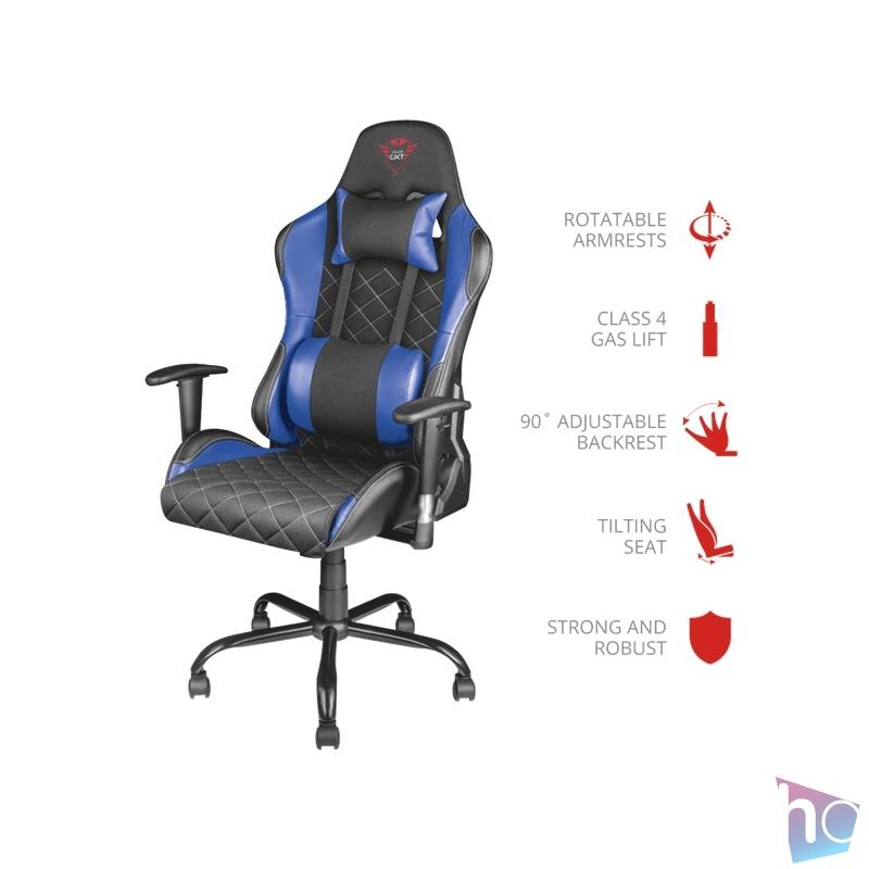 Trust GXT 707R Resto kék/fekete gamer szék