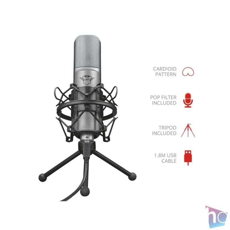 Trust GXT 242 Lance Streaming USB gamer mikrofon