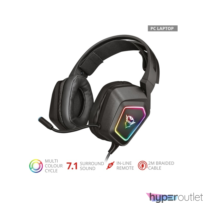 Trust GXT 450 Blizz RGB 7.1 Surround USB gamer fejhallgató headset