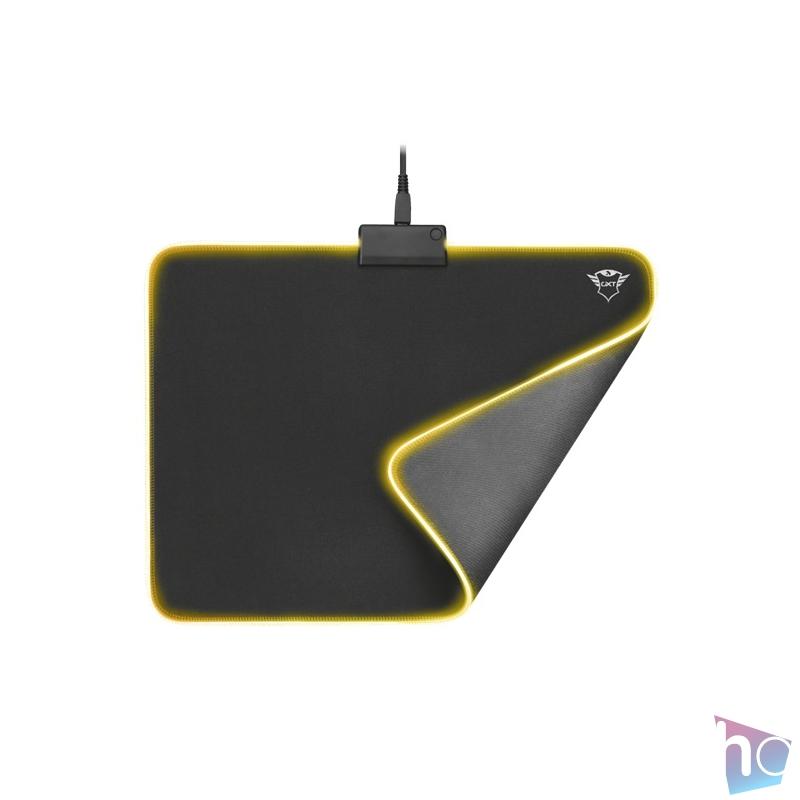 Trust GXT 762 Glide-Flex Illuminated flexible világító fekete gamer egérpad