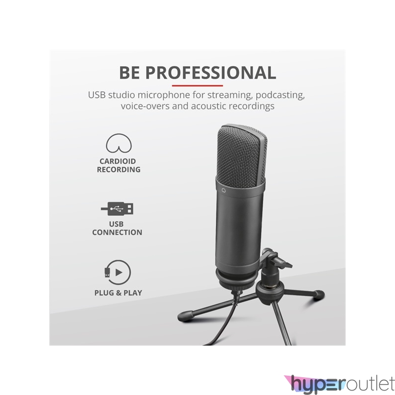 Trust GXT 252+ Emita Plus Streaming USB gamer mikrofon