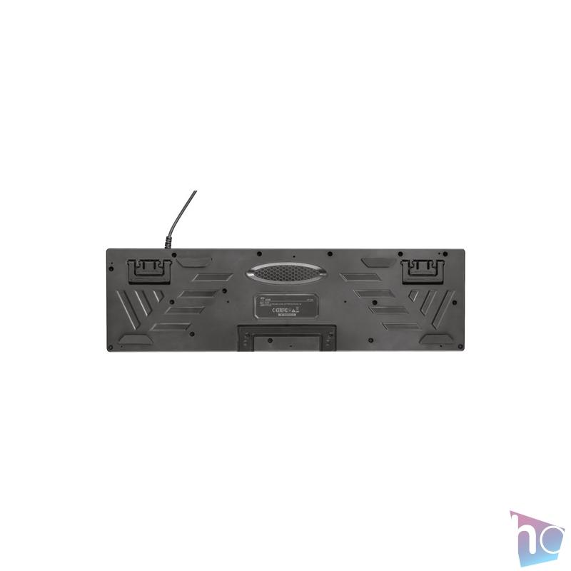Trust GXT 838 Azor HUN fekete gamer billentyűzet + gamer egér