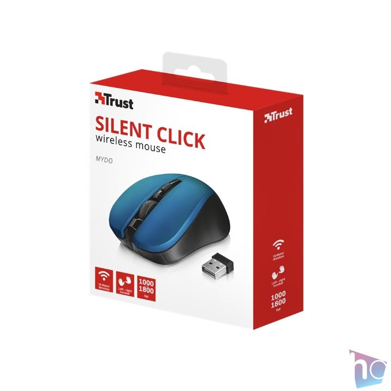 Trust Mydo Silent Click vezeték nélküli kék egér