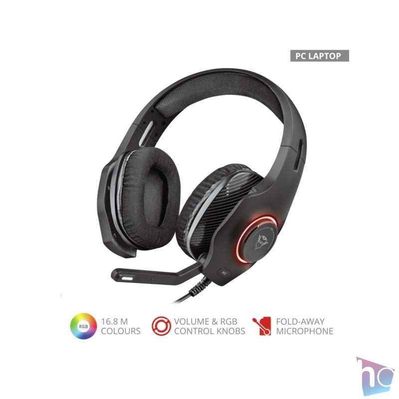 Trust GXT 455 Torus RGB gamer headset