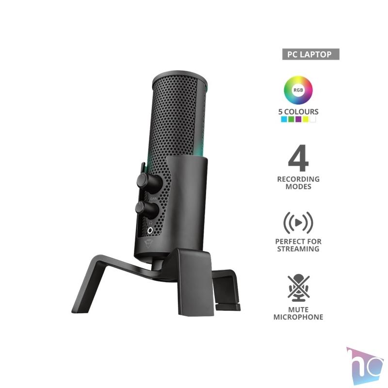 Trust GXT 258 Fyru 4in1 Streaming USB gamer mikrofon