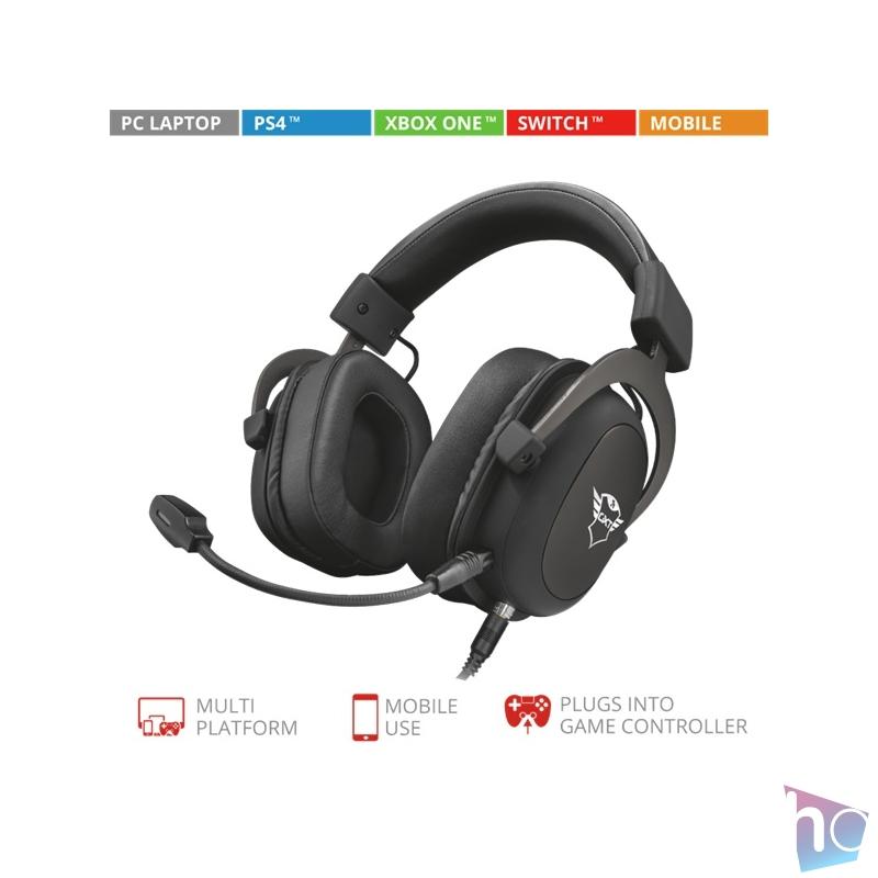 Trust GXT 414 Zamak Premium gamer fejhallgató headset