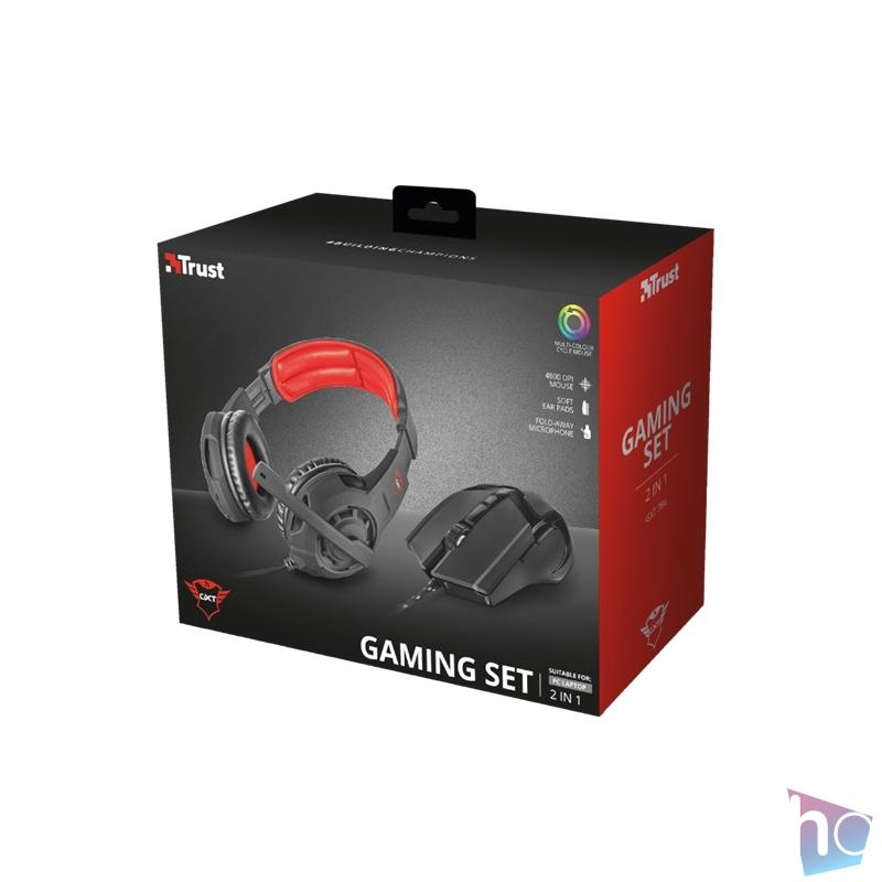 Trust GXT 784 2-in1 gamer fejhallgató headset & egér