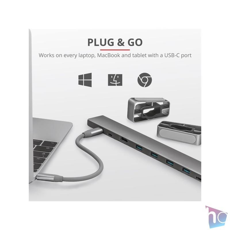 Trust Dalyx USB-C 10 in 1 multiport dokkoló