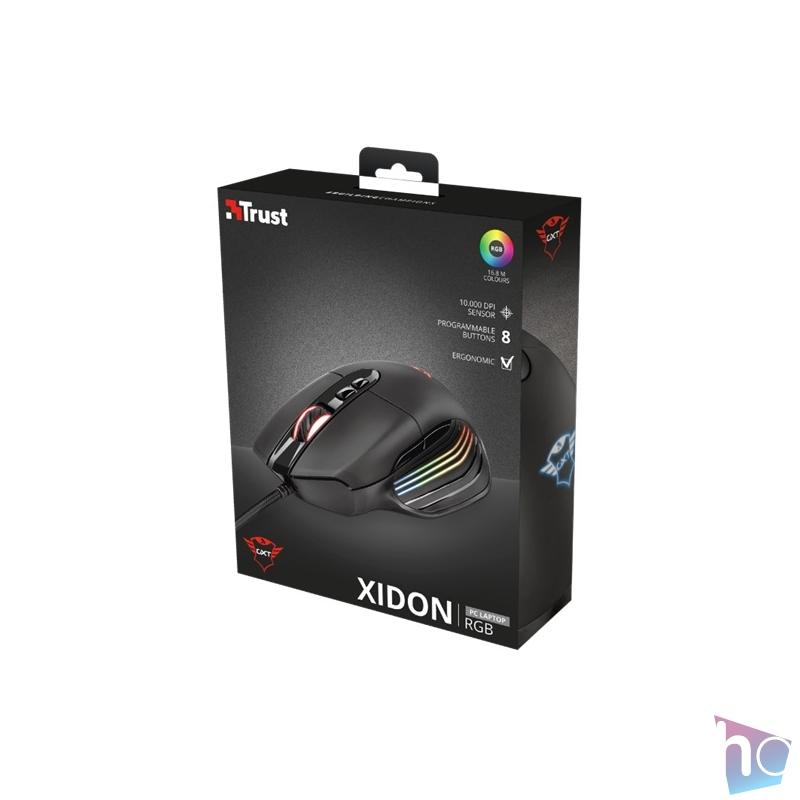Trust GXT 940 Xidon RGB fekete gamer egér