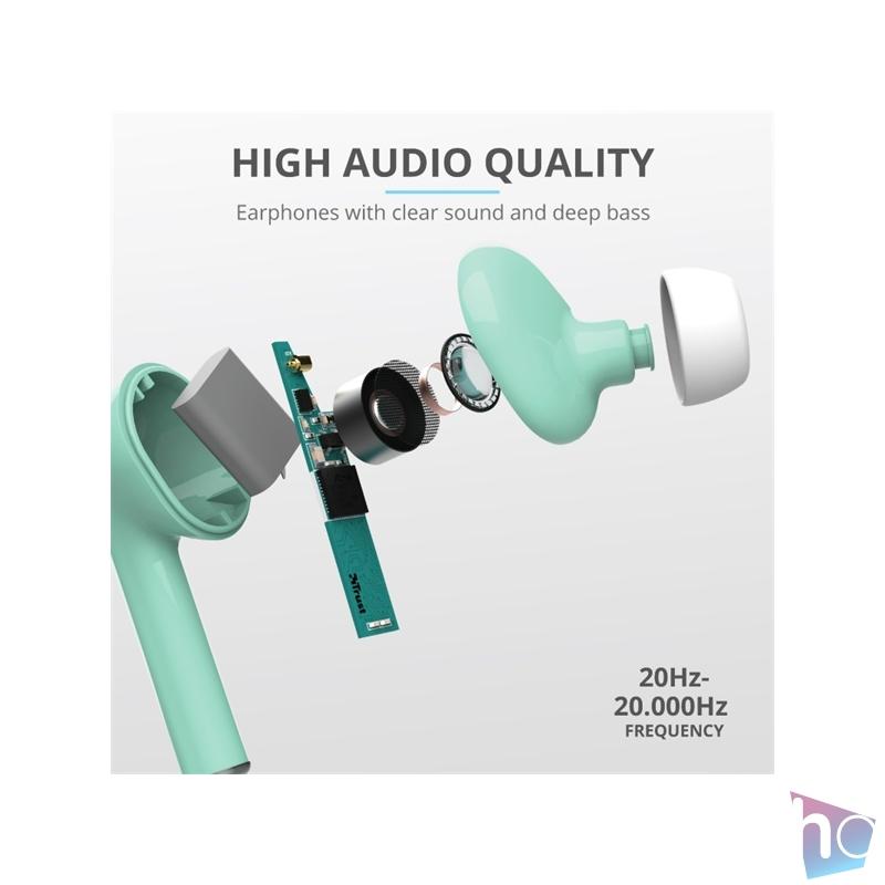 Trust Nika Touch Bluetooth true wireless türkiz fülhallgató headset