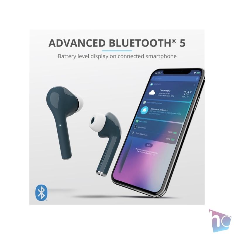 Trust Nika Touch Bluetooth true wireless kék fülhallgató headset