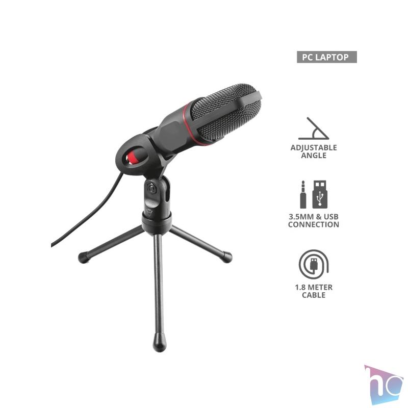 Trust GXT 212 Mico USB és jack gamer mikrofon