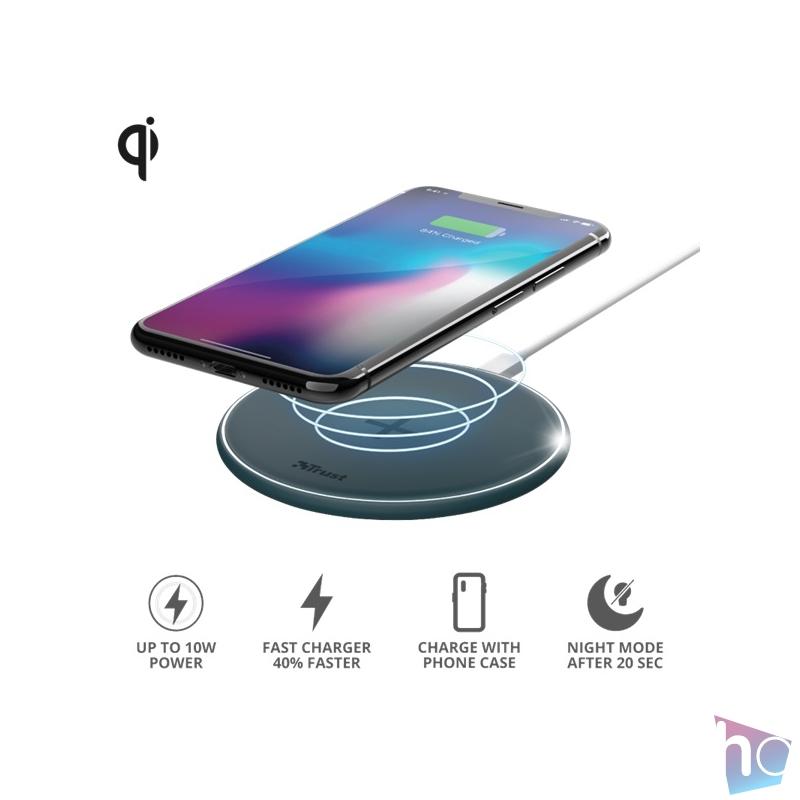 Trust Qylo Fast QI 7.5/10W wireless kék töltő