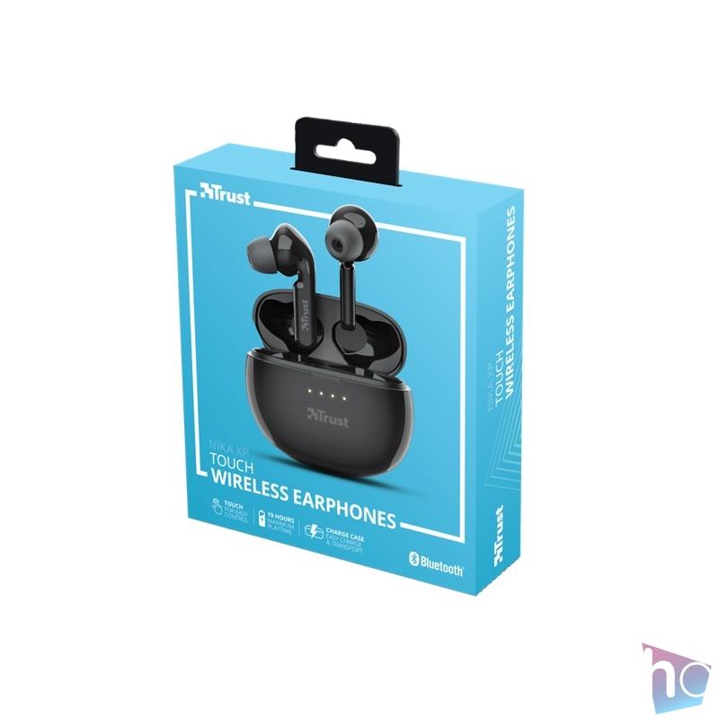 Trust Nika Touch XP Bluetooth true wireless fekete fülhallgató headset