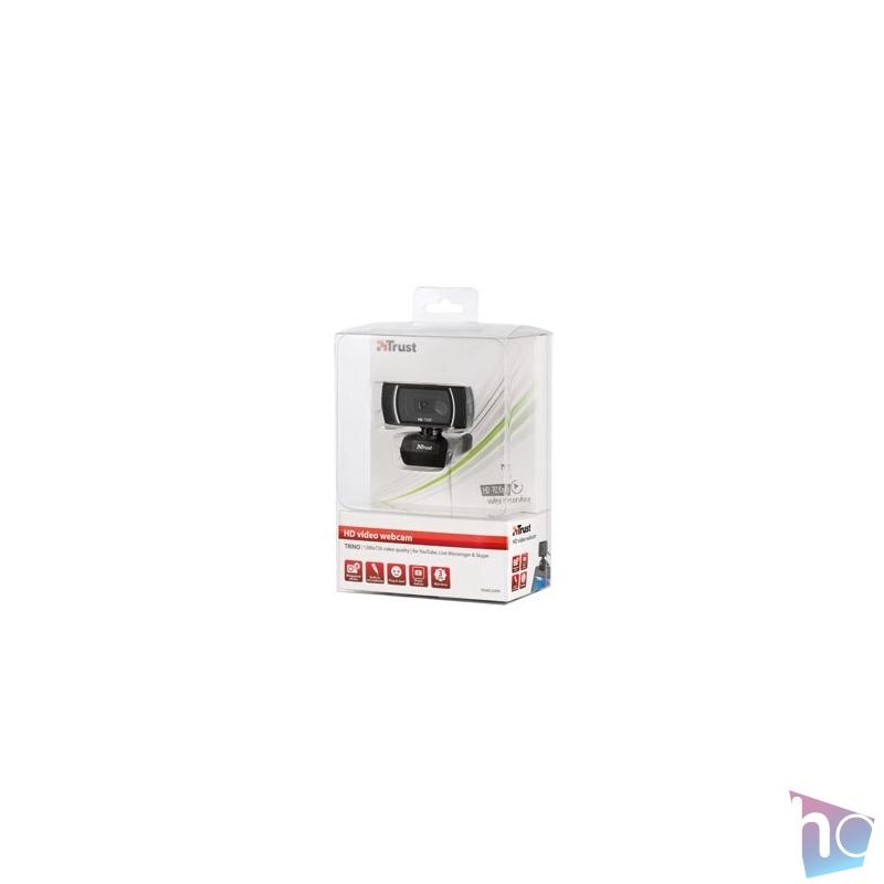 Trust Trino HD mikrofonos fekete webkamera